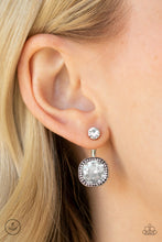 Load image into Gallery viewer, Paparazzi Celebrity Cache - White Jacket Earrings