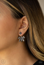 Load image into Gallery viewer, Paparazzi Stunningly Striking Black Post Earring