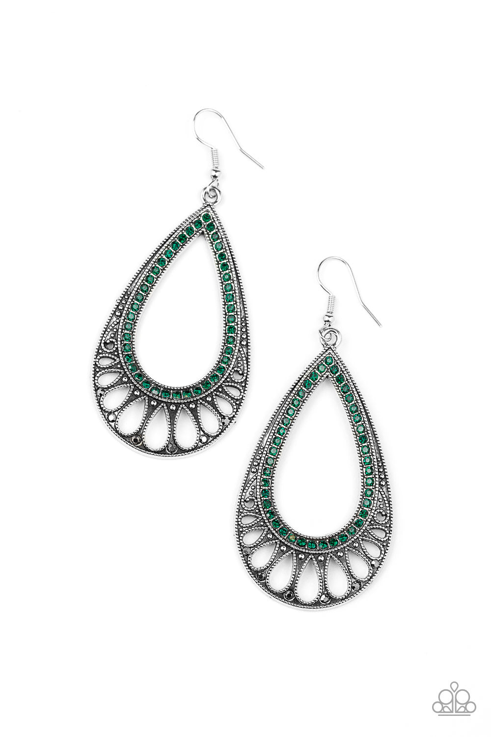 Paparazzi Royal Finesse Green Earring