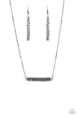 Paparazzi Timelessly Twinkling Black Necklace N-GM14