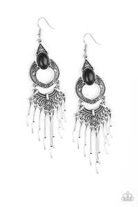 Paparazzi Southern Spearhead - Black Earrings
