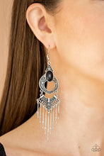 Load image into Gallery viewer, Paparazzi Southern Spearhead - Black Earrings