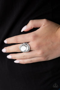 Paparazzi Queen Scene - White Papa Ring