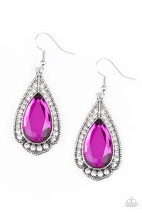 Paparazzi Superstar Stardom - Pink Earrings
