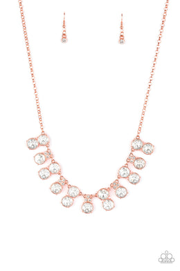 Paparazzi Top Dollar Twinkle - Copper Necklace