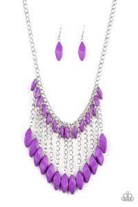 Paparazzi Venturous Vibes - Purple Necklace N-PU3