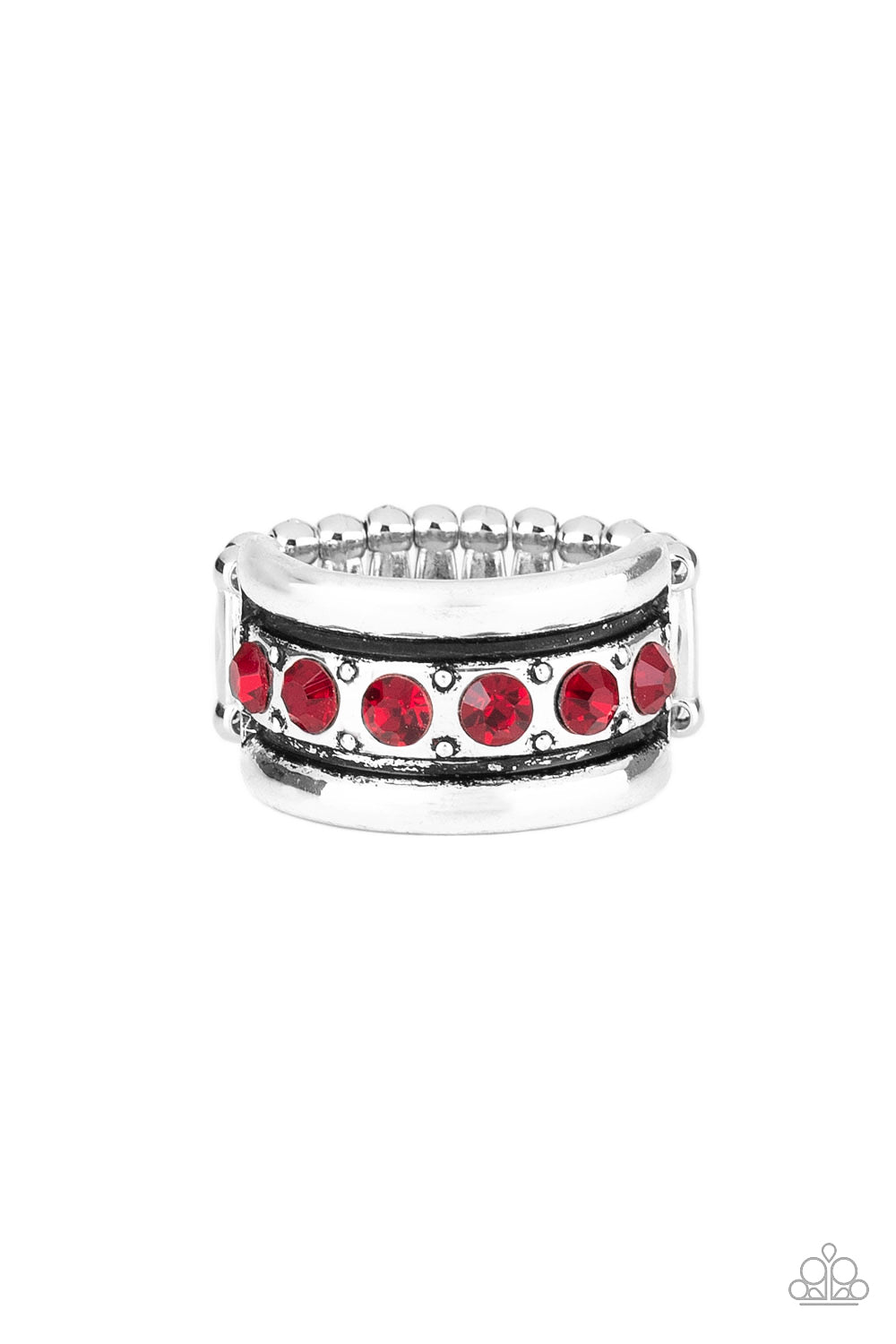 Paparazzi Dauntless Shine - Red Papa Ring