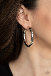 Paparazzi Hoop Hustle - Silver Hoop Earrings