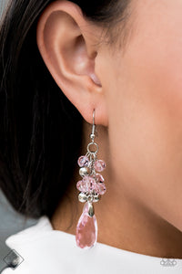 Paparazzi Before and AFTERGLOW - Pink Earrings