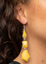 Load image into Gallery viewer, Paparazzi Geo Getaway - Yellow Earrings
