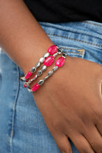 Load image into Gallery viewer, Paparazzi Sorry to Burst Your BAUBLE - Pink Bracelet B-PI1