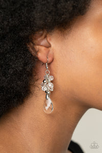Paparazzi Before and AFTERGLOW - White Earrings