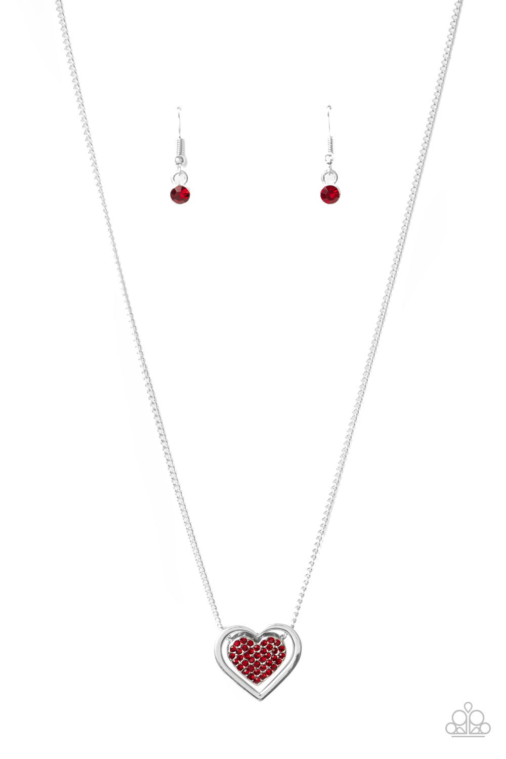 Paparazzi Game, Set, MATCHMAKER - Red Necklace R-01