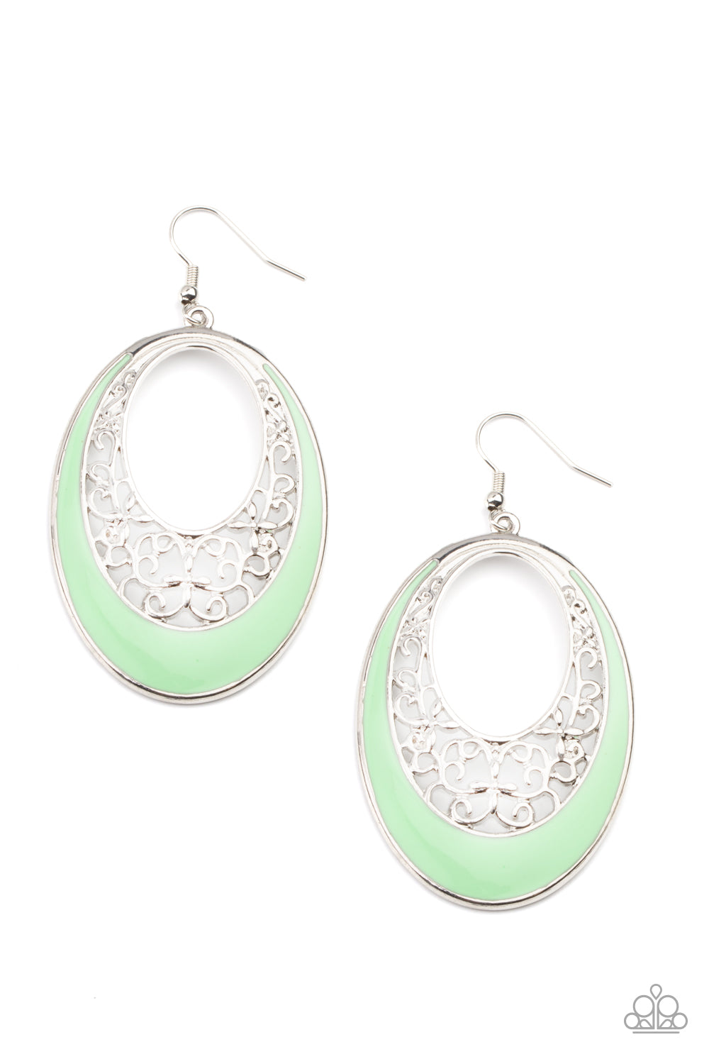 Paparazzi Orchard Bliss - Green Earrings