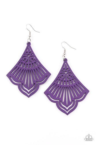 Paparazzi Eastern Escape - Purple Earrings
