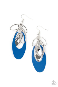 Paparazzi Ambitious Allure - Blue Earrings