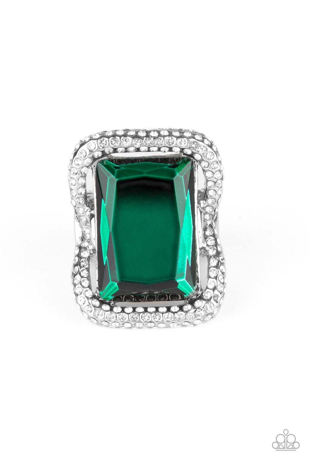 Paparazzi Deluxe Decadence - Green Papa Ring