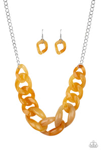 Paparazzi Red-HAUTE Mama - Yellow Necklace