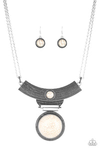 Paparazzi Lasting EMPRESS-ions - White Necklace N-W4