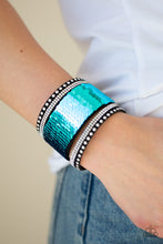 Load image into Gallery viewer, Paparazzi MERMAIDS Have More Fun - Blue Bracelet