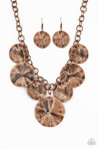 Paparazzi Barely Scratched The Surface - Copper Necklace N-BC14
