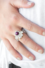 Load image into Gallery viewer, Paparazzi Crown Coronation - Purple Papa Ring