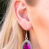 Load image into Gallery viewer, Paparazzi Grandmaster Shimmer - Hot Pink Earrings