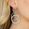 Paparazzi Metro Bliss White Earrings