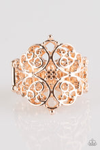 Load image into Gallery viewer, Paparazzi Victorian Valor - Rose Gold Papa Ring
