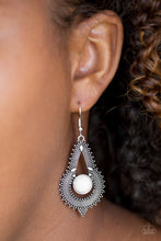 Load image into Gallery viewer, Paparazzi Zoomin Zumba White Earrings