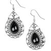 Paparazzi Flirty Finesse - Black Earring
