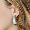 Load image into Gallery viewer, Paparazzi Gypsy Belle - Silver Hoop Earrings