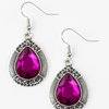 Paparazzi Grandmaster Shimmer - Hot Pink Earrings
