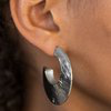 Paparazzi Mad About Shine - Black Hoop Earrings
