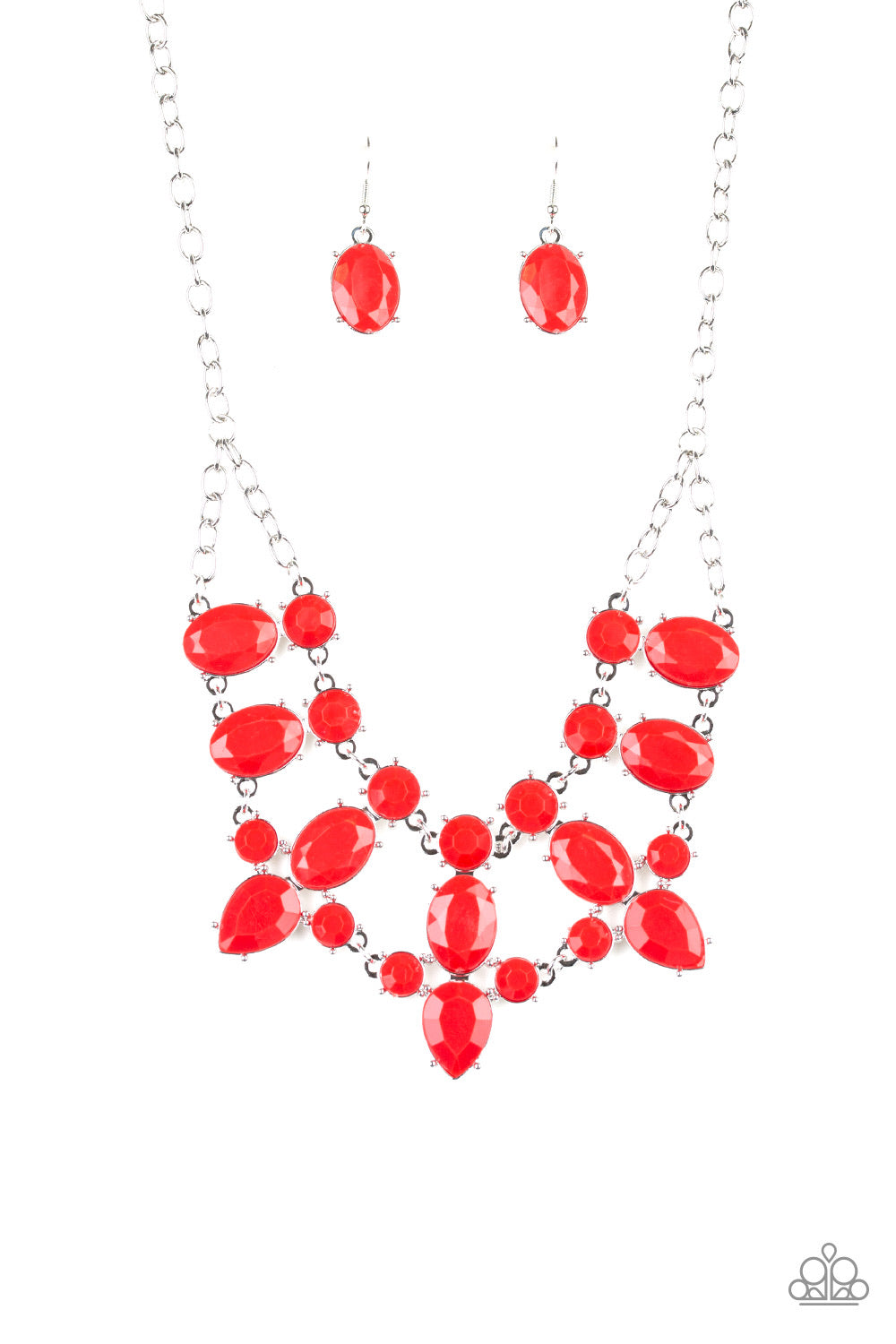 Paparazzi Goddess Glow Red Necklace N-R09