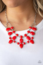 Load image into Gallery viewer, Paparazzi Goddess Glow Red Necklace N-R09