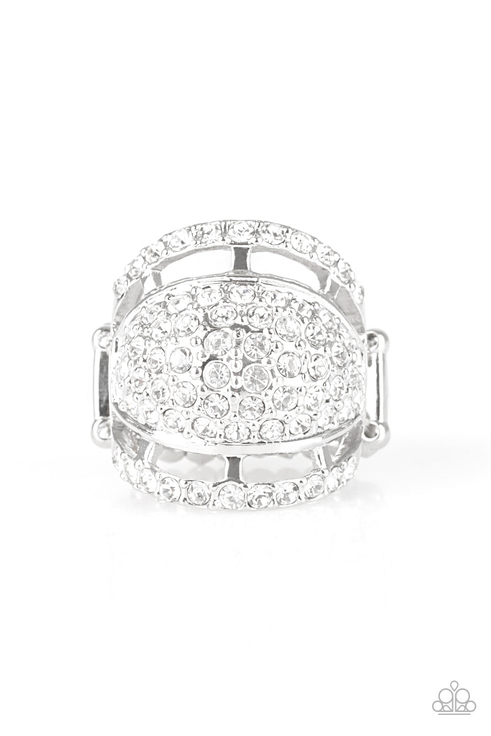 Paparazzi The Seven-Figure Itch White Papa Ring