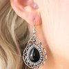 Load image into Gallery viewer, Paparazzi Flirty Finesse - Black Earring