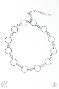 Paparazzi Simply City Slicker - Silver Choker Necklace