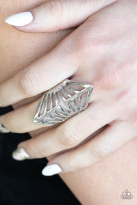 Paparazzi Deco Defender Silver Papa Ring