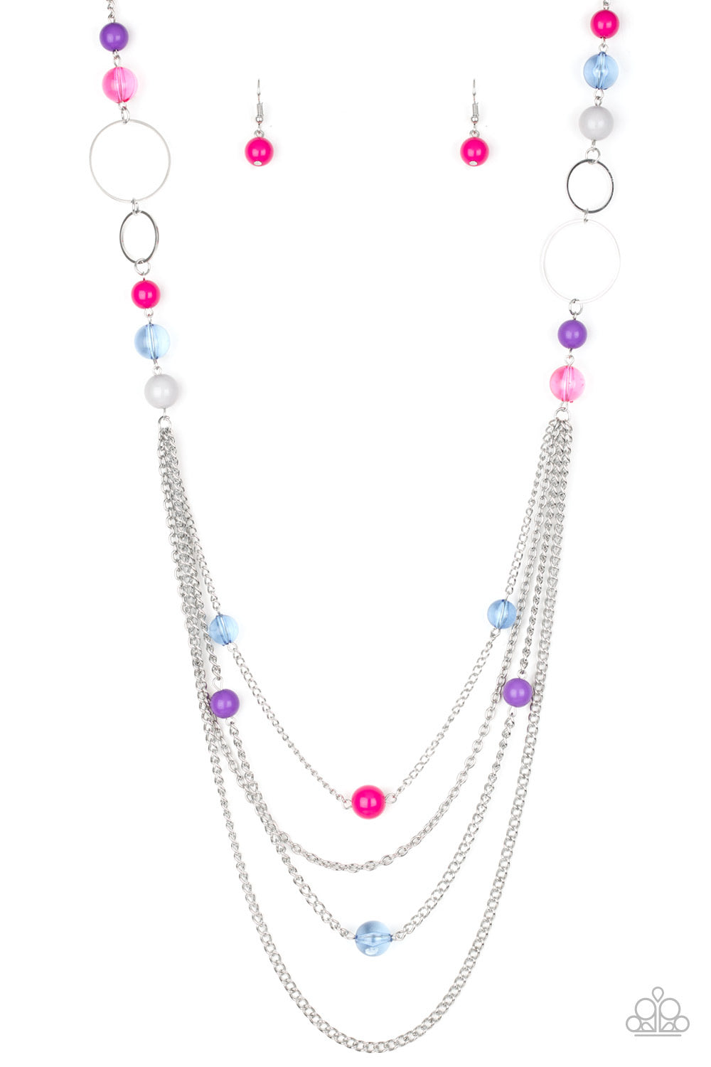 Paparazzi Bubbly Bright - Multi Necklace N-M1