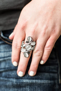 Paparazzi Bliss Out White Papa Ring