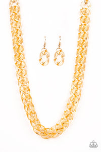 Paparazzi Put It On Ice - Gold Necklace