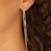Paparazzi Flavor of the Sleek Black Post Earrings