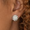 Load image into Gallery viewer, Paparazzi Wicked Glow - White Post Earring