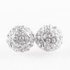 Paparazzi Wicked Glow - White Post Earring