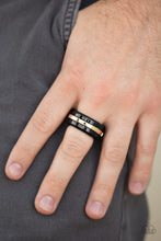 Load image into Gallery viewer, Paparazzi Battle Tank Gold Papa Ring R83