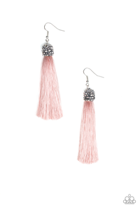 Paparazzi Make Room For Plume - Pink Earrings