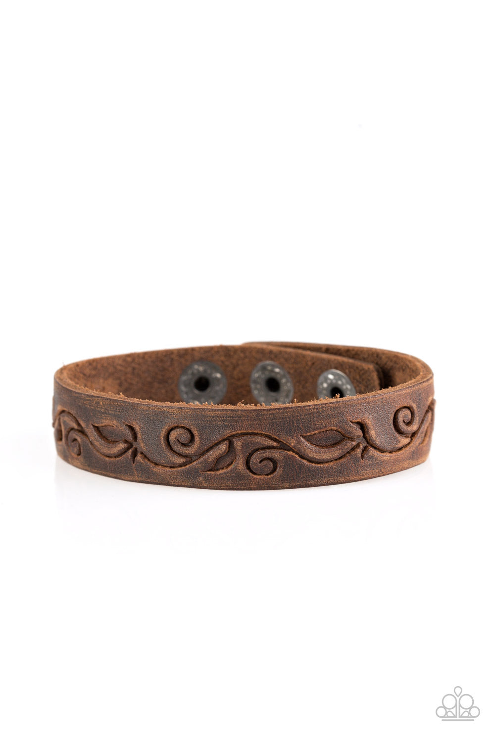 Paparazzi Fearless Forager - Brown Bracelet