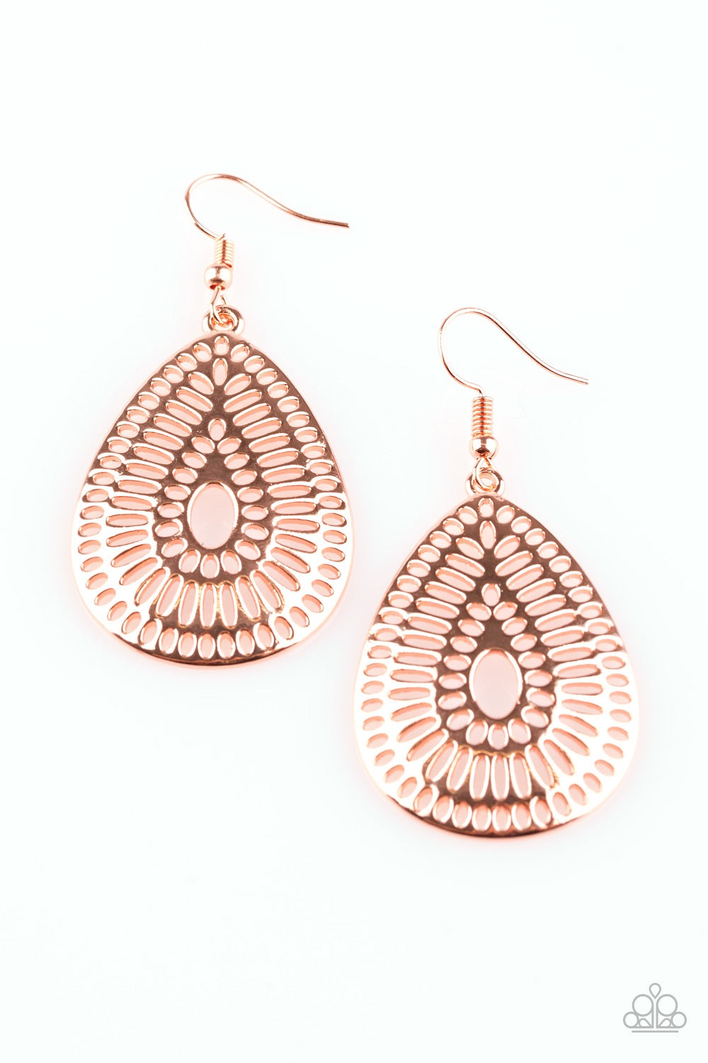 Paparazzi You Look GRATE! - Copper Earrings